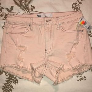 Tilly's RSQ Jeans pink mid rise shorts